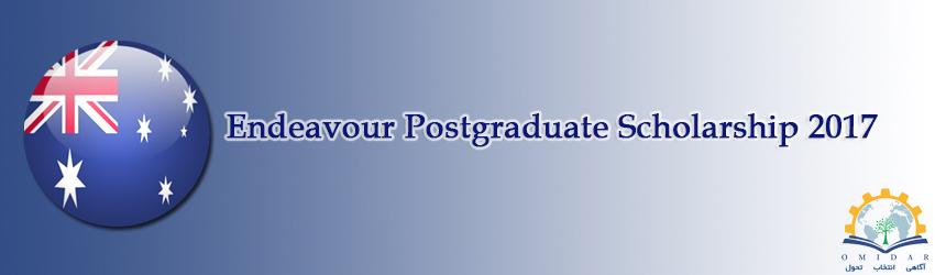 Endeavour Postgraduate Scholarship